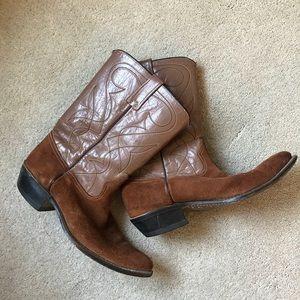 🌟Vintage leather & suede cowboy boots🌟
